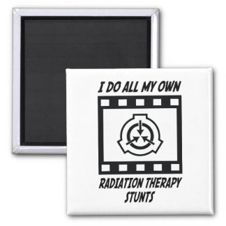 Radiation Therapy Stunts 2 Inch Square Magnet