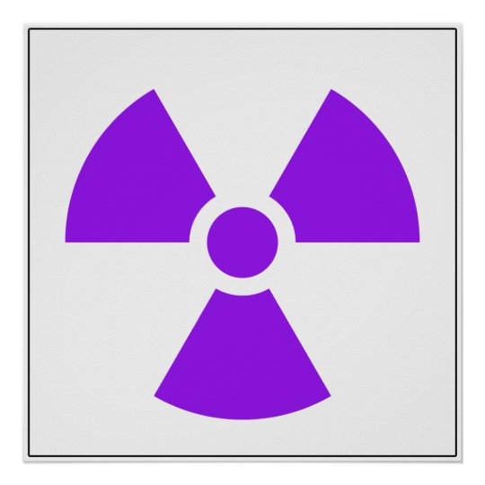 Radiation Trefoil Sign Symbol Warning Sign Symbol
