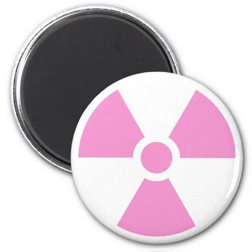 Radiation Trefoil Sign Symbol Warning Sign Symbol 2 Inch Round Magnet