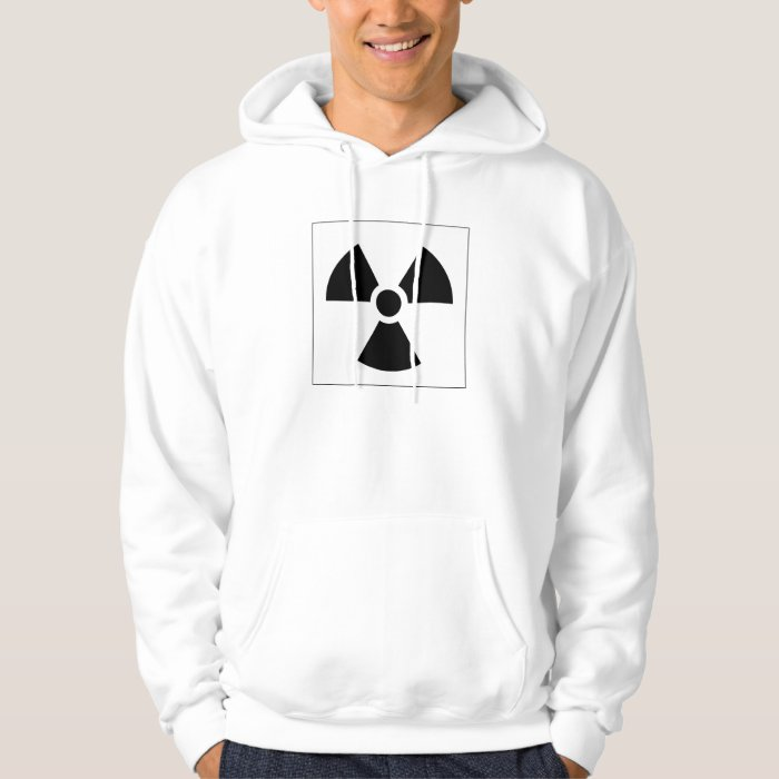 Radiation Trefoil Sign Symbol Warning Sign Symbol Hoodie