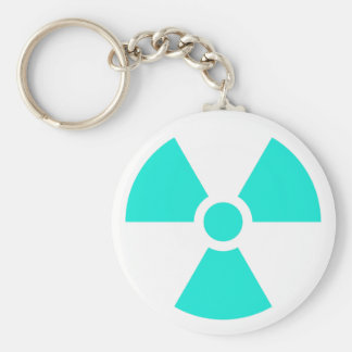 Radiation Trefoil Sign Symbol Warning Sign Symbol Keychains