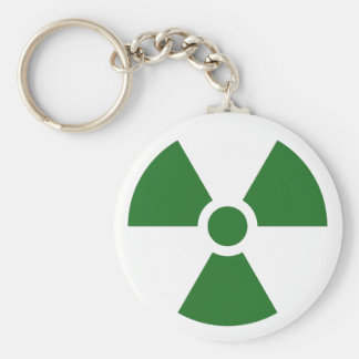 Radiation Trefoil Sign Symbol Warning Sign Symbol Keychain