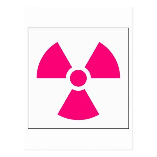 Radiation Trefoil Sign Symbol Warning Sign Symbol Postcard