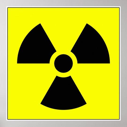 Radiation Trefoil Sign Symbol Warning Sign Symbol Poster