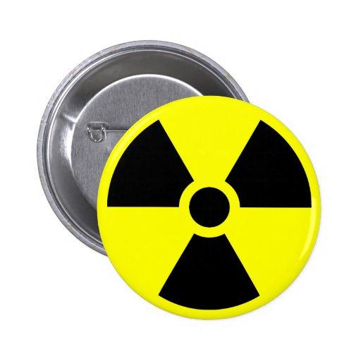 Radiation Trefoil Symbol Pinback Button