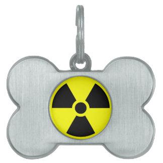 Radiation Trefoil Symbol Pet Tag