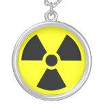 Radiation Trefoil Symbol Round Pendant Necklace
