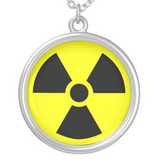 Radiation Trefoil Symbol Silver Plated Necklace