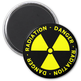 Radiation Warning 2 Inch Round Magnet