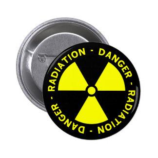 Radiation Warning Button Pins