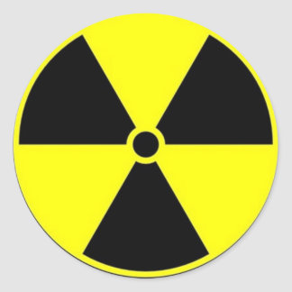 Radiation Warning Classic Round Sticker