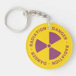 Radiation Warning Keychain