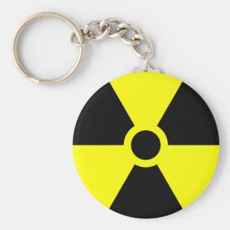 Radiation Warning Logo Keychain