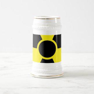 Radiation Warning Sign Beer Stein