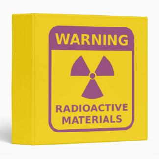 Radiation Warning Sign Binder