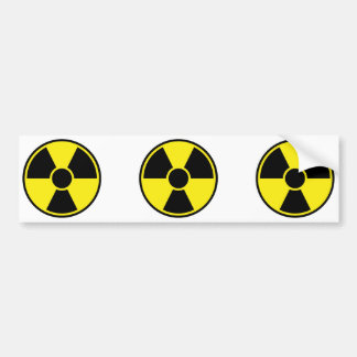 Radiation Warning Sign Bumper Sticker