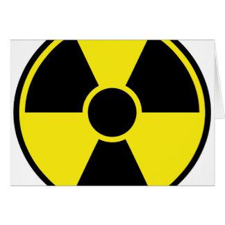 Radiation Warning Sign Card