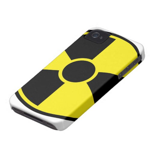 Radiation Warning Sign iPhone 4 Covers