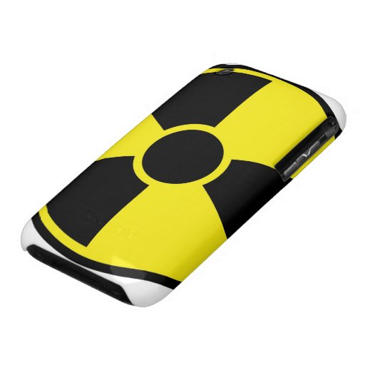 Radiation Warning Sign iPhone 3 Cases