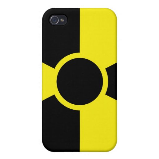 Radiation Warning Sign Cases For iPhone 4