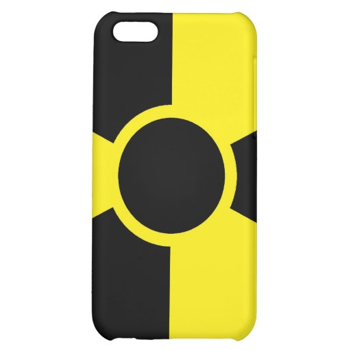 Radiation Warning Sign iPhone 5C Cover