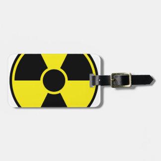 Radiation Warning Sign Luggage Tag