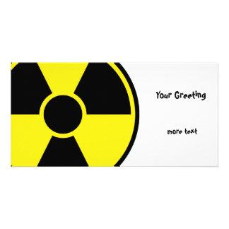 Radiation Warning Sign Photo Card