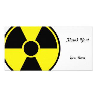 Radiation Warning Sign Personalized Photo Card