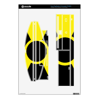 Radiation Warning Sign PS3 Decal