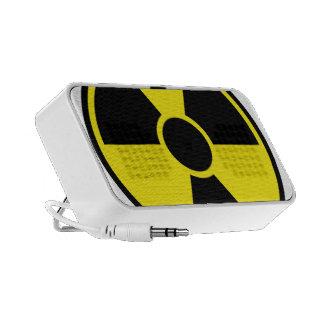 Radiation Warning Sign iPhone Speakers