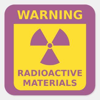 Radiation Warning Sticker