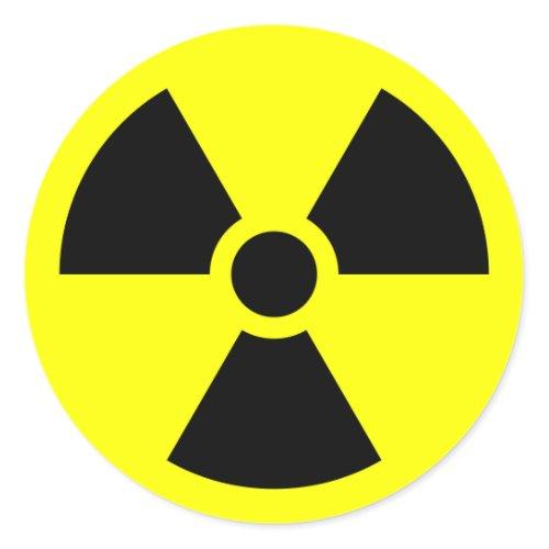 Radiation Warning Symbol zazzle_sticker