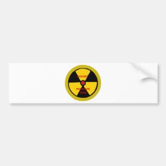 Radiation zone car bumper sticker