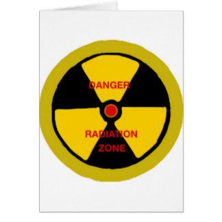 Radiation zone card