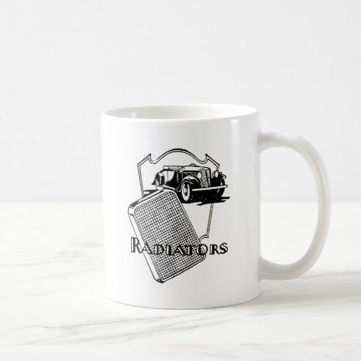 Radiator and Old Car Classic White Coffee Mug