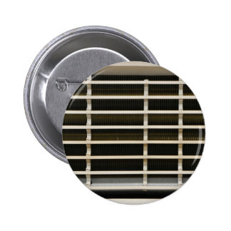 Radiator grid texture pinback button