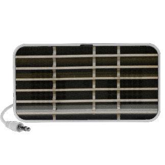 Radiator grid texture iPod speakers