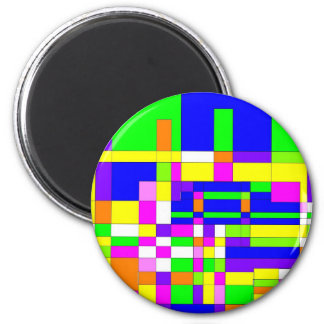 Radical Colors 2 Inch Round Magnet