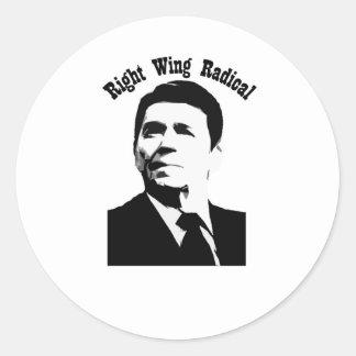 Radical de la derecha de Reagan Etiquetas