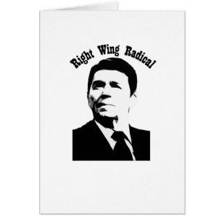 Radical de la derecha de Reagan Felicitaciones