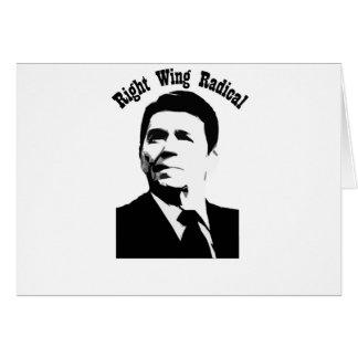 Radical de la derecha de Reagan Tarjetón