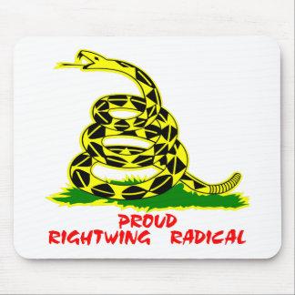 Radical de la derecha orgulloso de la bandera de G Mouse Pads