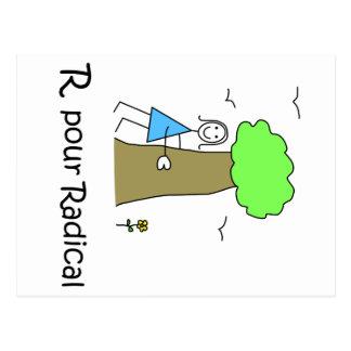 Radical del postale de la carta postal