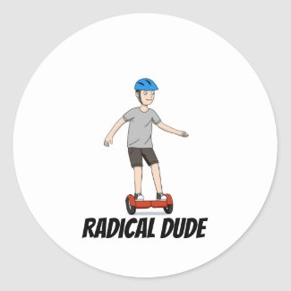 Radical Dude Classic Round Sticker