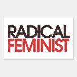 Radical Feminist Rectangular Stickers