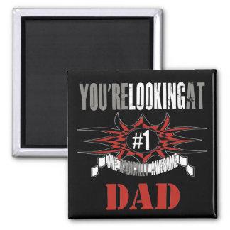 Radical Grey Dad Refrigerator Magnets