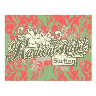 Radical Habits Surfing Tshirts and Gifts Postcard