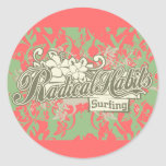 Radical Habits Surfing Tshirts and Gifts Stickers