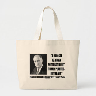 Radical Is A Man With Both Feet Firmly Planted Air Tote Bag