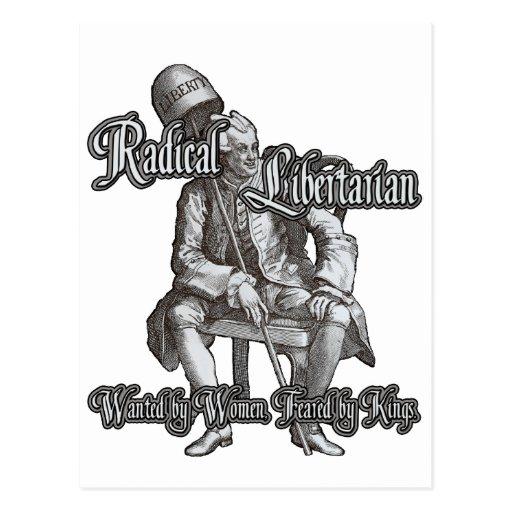 Radical Libertarian: Feared by Kings! Postcard